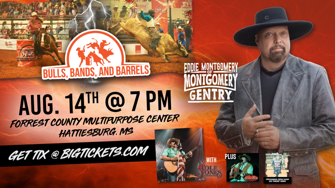 Bulls, Bands, & Barrels featuring Eddie Montgomery of Montgomery Gentry with Cole Jones and Dalton Bush