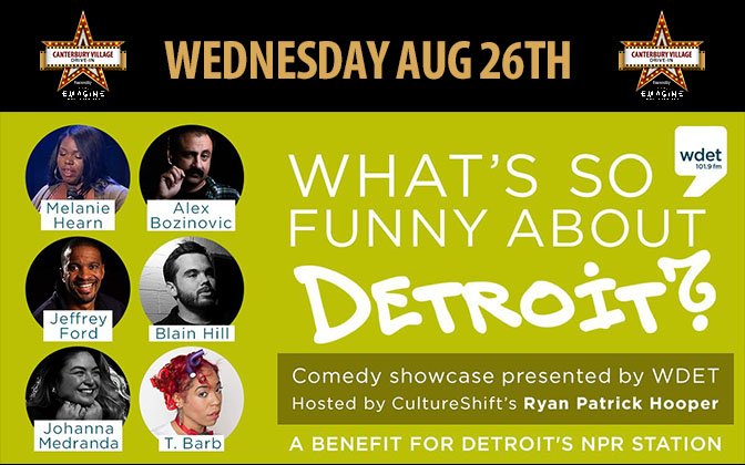 WDET Drive In Comedy Night August 26