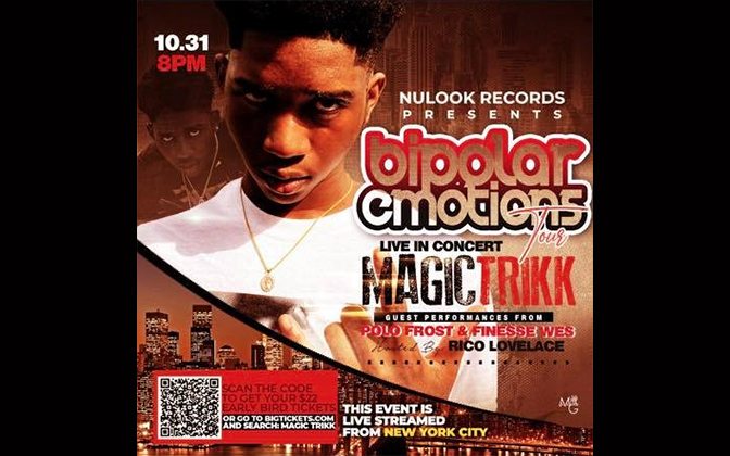 Magic Trikk's Bipolar Emotions Concert Tour: Live Streaming from New York City