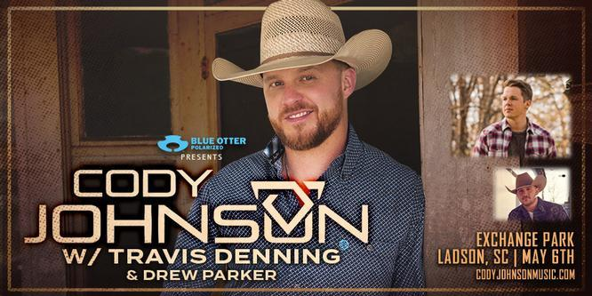 Cody Johnson at Exchange Park in North Charleston, SC with Travis Denning and Drew Parker