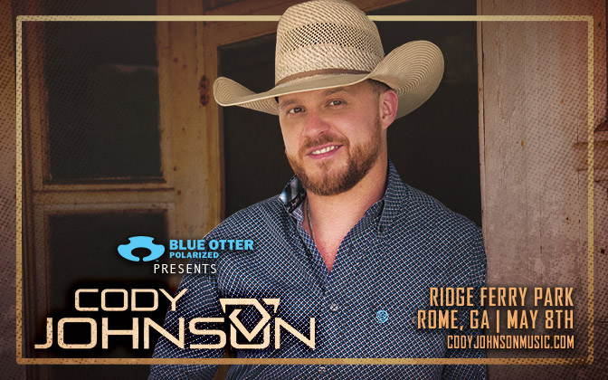 Cody Johnson at Ridge Ferry Park in Rome, GA with Drew Parker and Jordan Rowe